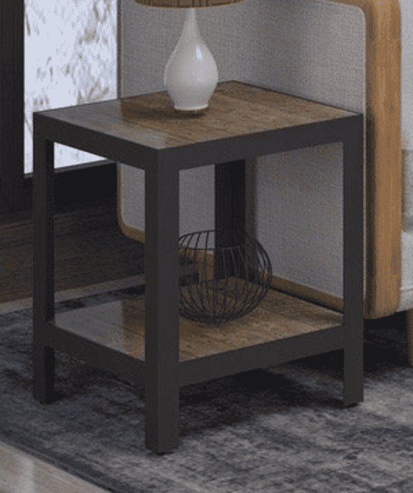 "63 Brown Wood - 16"" Side Table-furniture stores regina-Hunters Furniture"