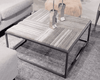 "TRIBECA II Grey Marble - 35"" Coffee Table-furniture stores regina-Hunters Furniture"