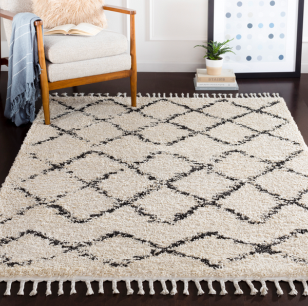 505 Polypropylene, Charcoal & Beige Fabric - 5x7 Rug-furniture stores regina-Hunters Furniture
