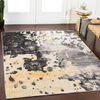 535 Polypropylene, Butter, Black, Charcoal, Medium Grey, White Fabric - 8x10 Rug-furniture stores regina-Hunters Furniture