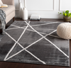 534 Polyester, Charcoal, Medium Grey, White Fabric - 5x7 Rug-furniture stores regina-Hunters Furniture