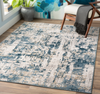 533 Polypropylene & Polyester, Denim, Dark Blue, Medium Grey, Beige, Tan, White Fabric - 5x7 Rug-furniture stores regina-Hunters Furniture
