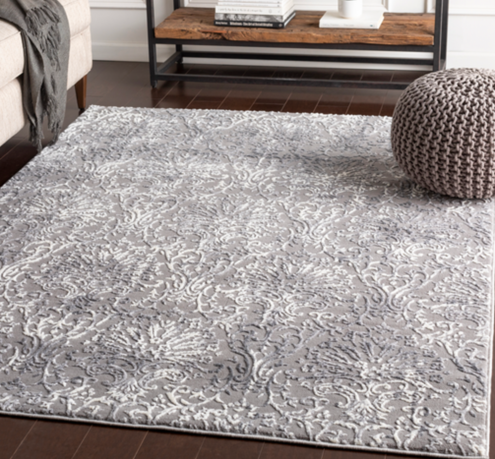 530 Polypropylene & Polyester, Charcoal, Light Grey, Ivory Fabric - 5x7 Rug-furniture stores regina-Hunters Furniture