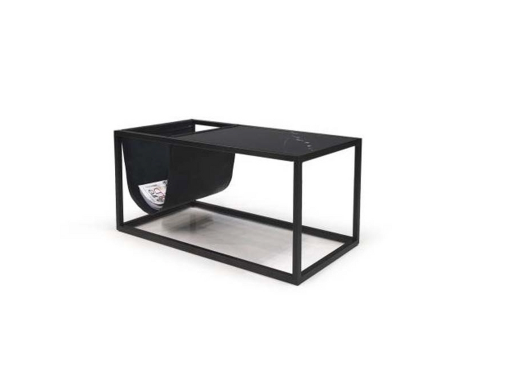 631 Black Marble - Coffee Table-furniture stores regina-Hunters Furniture