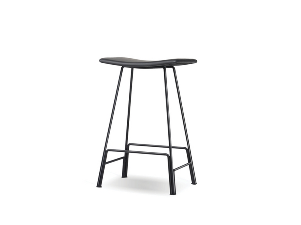 "DUNBAR Black Leather - 27"" Counter Stool-furniture stores regina-Hunters Furniture"