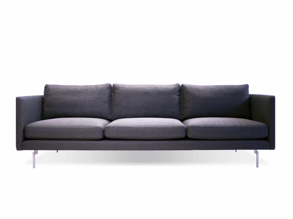 "615 Dark Grey Fabric - 95"" Sofa-furniture stores regina-Hunters Furniture"