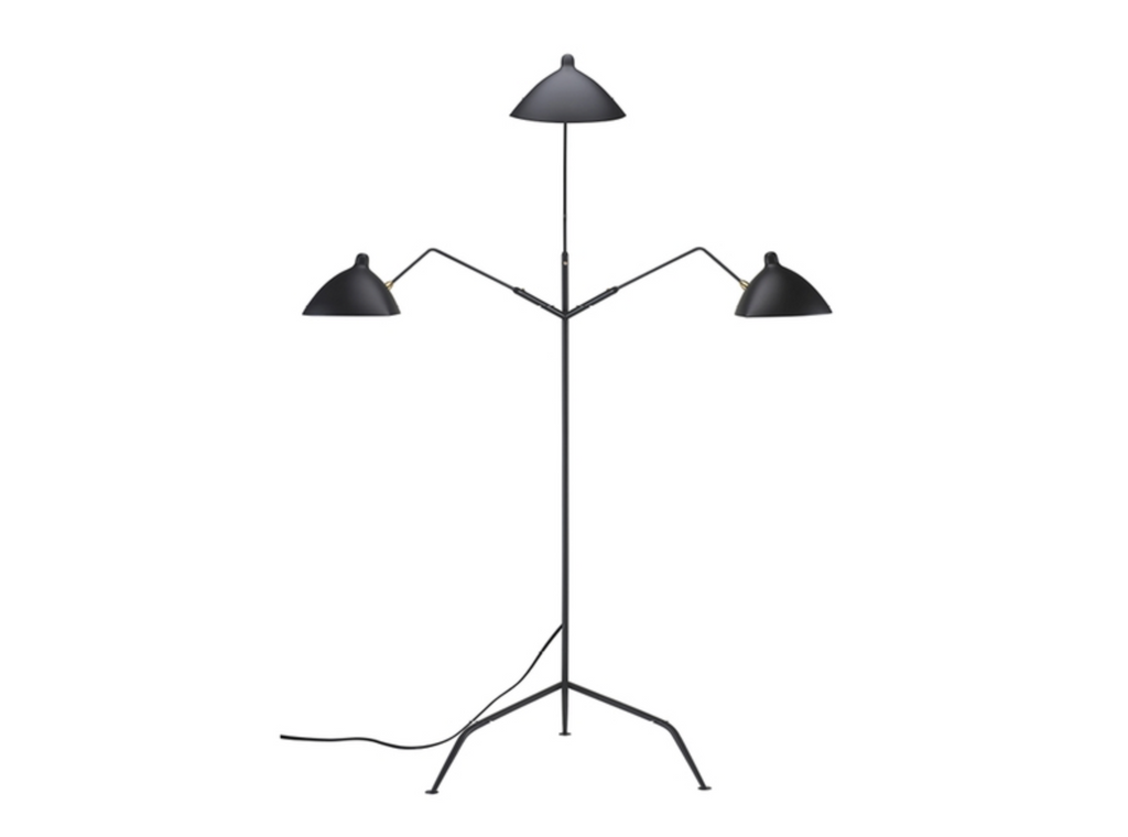 "640 Black - 3 Light Metal - 83"" Floor Lamp-furniture stores regina-Hunters Furniture"