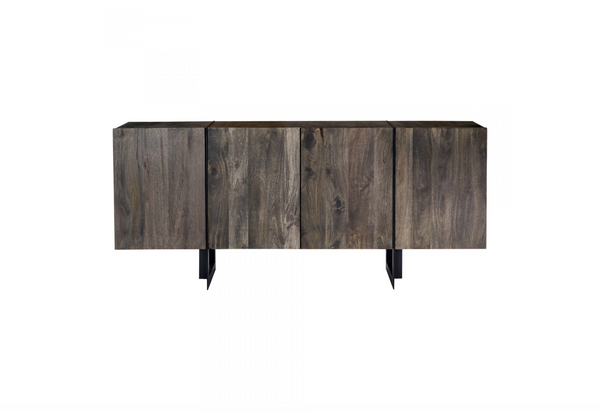 "YORK Dark Grey Brown Solid Wood - 64"" Sideboard-furniture stores regina-Hunters Furniture"