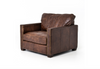 ASPEN Brown Distressed Leather - Oversized Chair-furniture stores regina-Hunters Furniture