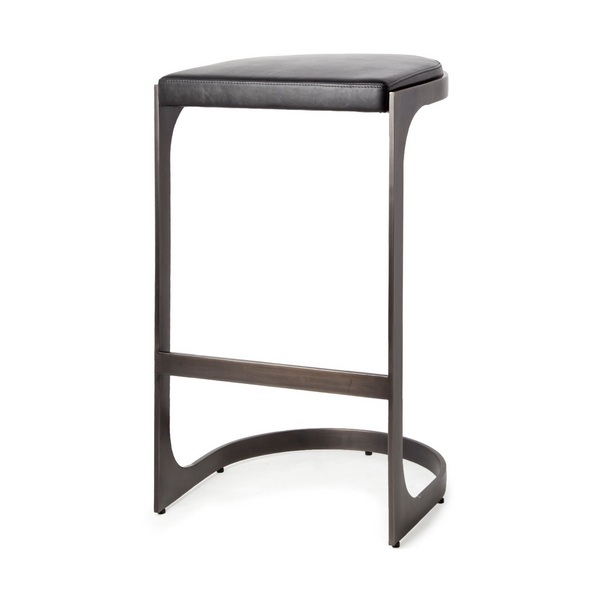 "REDMOND Black Leather - 26"" Counter Stool-furniture stores regina-Hunters Furniture"