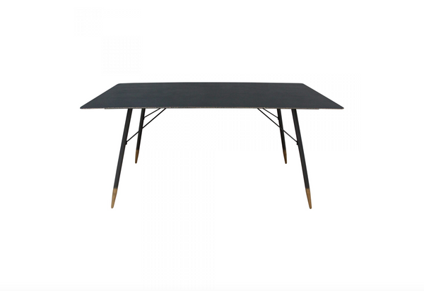 "REDMOND Black Metal - 63"" Dining Table-furniture stores regina-Hunters Furniture"