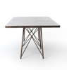"TRIBECA Oxidized Iron Metal - 114"" Dining Table-furniture stores regina-Hunters Furniture"