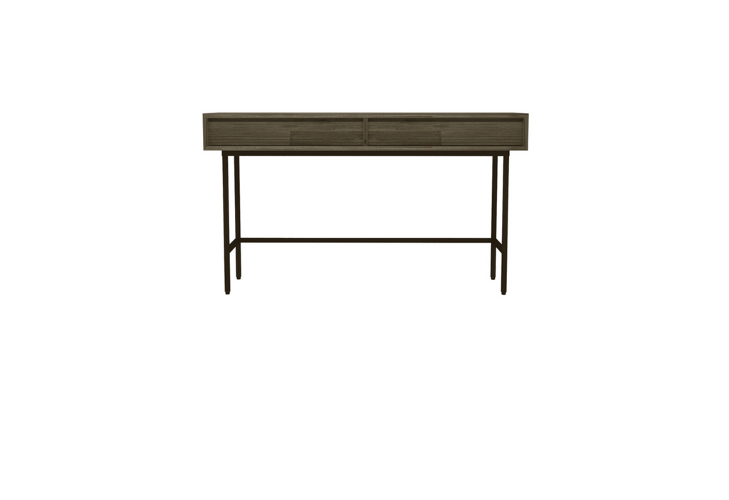 "ECHO PARK Brown Exotic Hardwood - 55"" Console/Sofa Table-furniture stores regina-Hunters Furniture"
