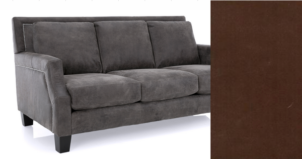 3 Seat Leather Sofa in Espresso Raven Brown(300) 78-furniture stores regina-Hunters Furniture