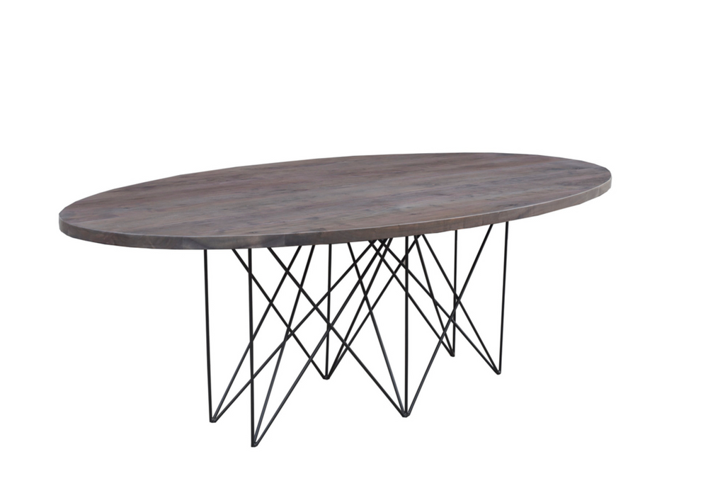 "NIAGRA Brown Exotic Hardwood - 84"" Dining Table-furniture stores regina-Hunters Furniture"