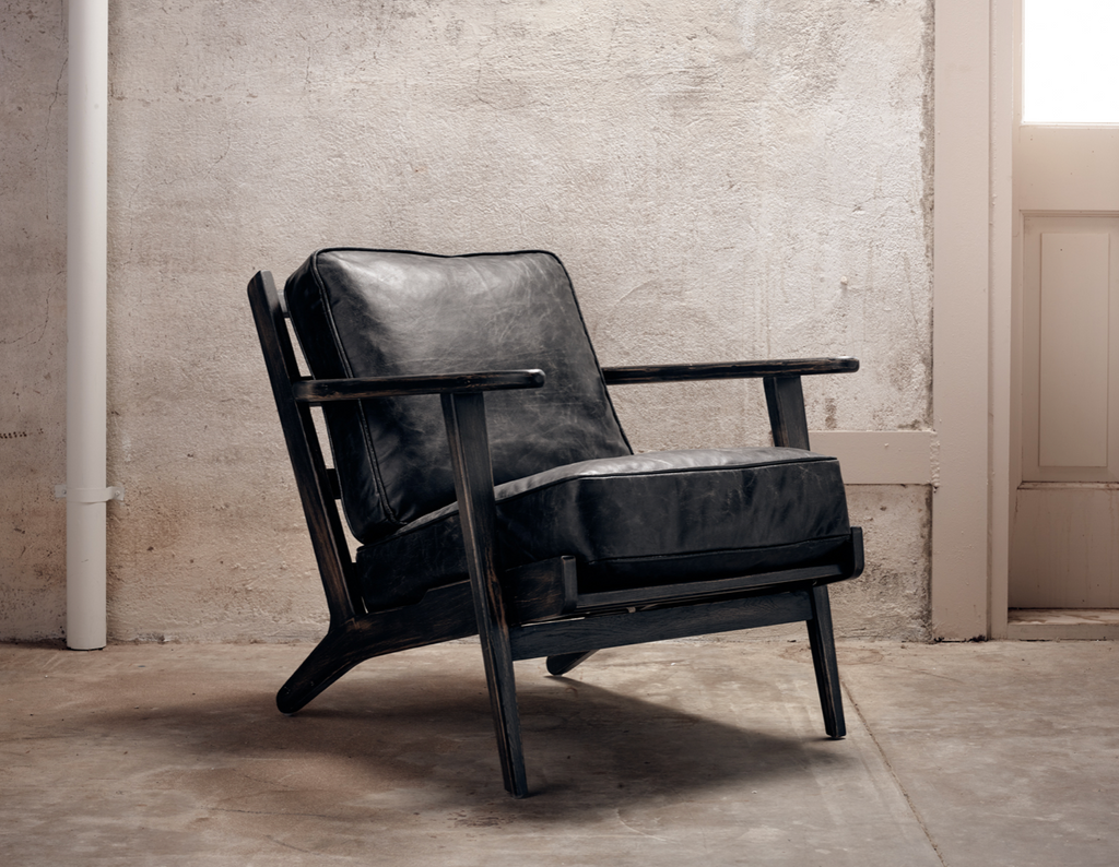 BANFF Black Leather - Chair-furniture stores regina-Hunters Furniture