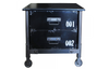 "121 Black Metal - 20"" Night Stand-furniture stores regina-Hunters Furniture"