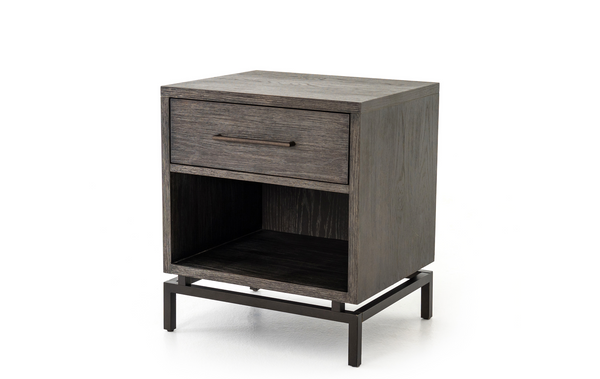 GIBSONS Dark Brown Wood - Night Stand-furniture stores regina-Hunters Furniture
