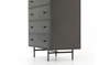 (Item Discontinued) 60 Grey Metal - 35.5'' Dresser - FINAL SALE-furniture stores regina-Hunters Furniture
