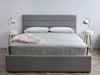 "ANNEX Grey Fabric - 80"" Double Bed-furniture stores regina-Hunters Furniture"