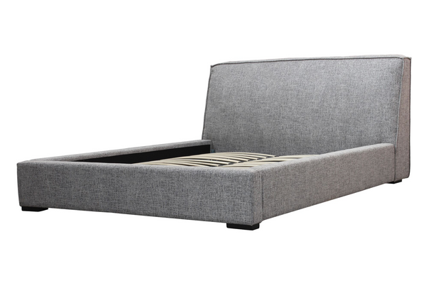 "BERLIN Tweed Grey Fabric - 86"" King Bed-furniture stores regina-Hunters Furniture"