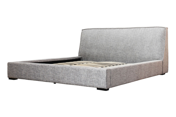 "BERLIN Tweed Grey Fabric - 70"" Queen Bed-furniture stores regina-Hunters Furniture"