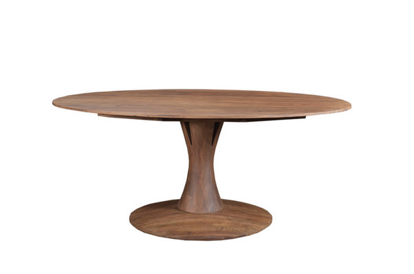 "35 Light Brown Exotic Hardwood - 71"" Dining Table-furniture stores regina-Hunters Furniture"