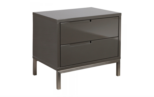 "MANHATTAN Grey Wood - 22"" Side Table-furniture stores regina-Hunters Furniture"