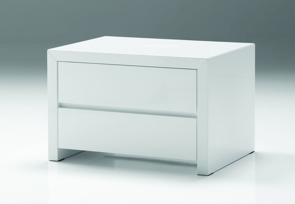 "MIAMI White Wood - 24"" Night Stand-furniture stores regina-Hunters Furniture"