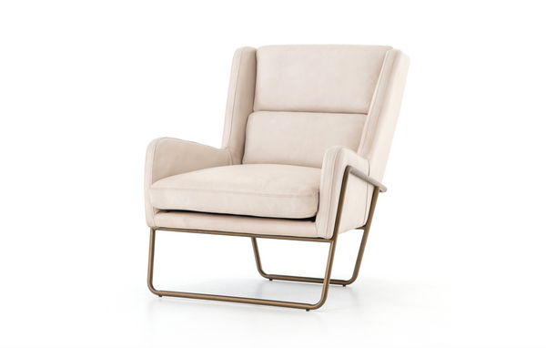 "STRATHCONA Ivory Leather - 28"" Chair-furniture stores regina-Hunters Furniture"