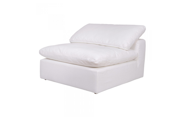 "SANTA MONICA Cream Fabric - Armless Chair 45"" L x 45"" W x 33"" H-furniture stores regina-Hunters Furniture"