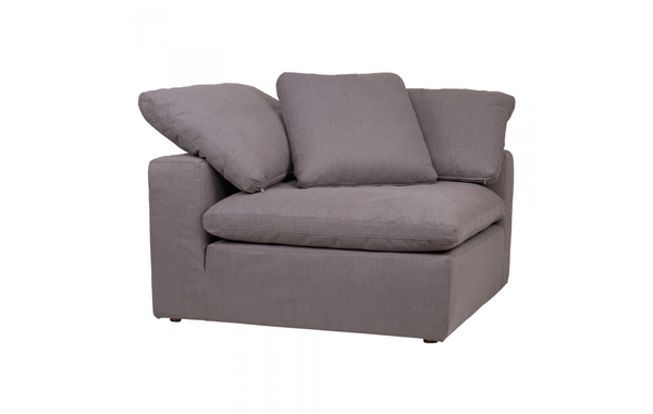 "SANTA MONICA Light Grey Fabric - Corner Chair 45"" L x 45"" W x 33"" H-furniture stores regina-Hunters Furniture"