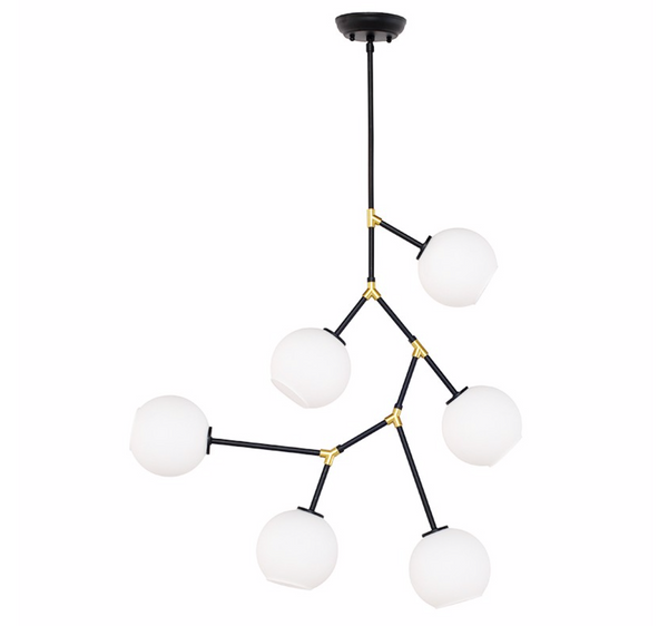 ATOM 6 PENDANT LIGHTING WHITE-furniture stores regina-Hunters Furniture