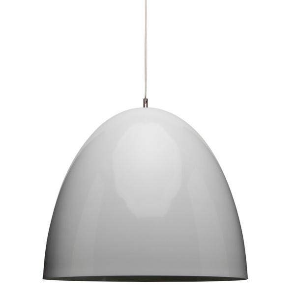DOME PENDANT LIGHTING WHITE-furniture stores regina-Hunters Furniture