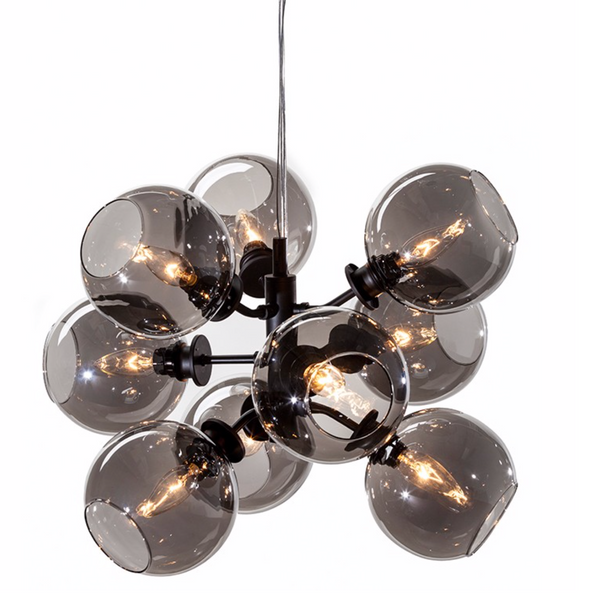 ATOM 9 PENDANT LIGHTING GREY-furniture stores regina-Hunters Furniture