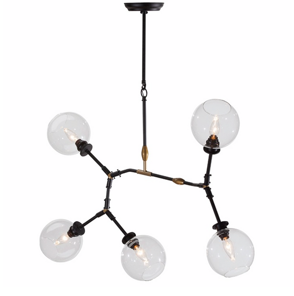 ATOM 5 PENDANT LIGHTING CLEAR-furniture stores regina-Hunters Furniture