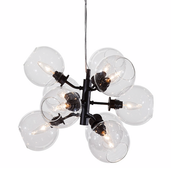 ATOM 9 PENDANT LIGHTING CLEAR-furniture stores regina-Hunters Furniture