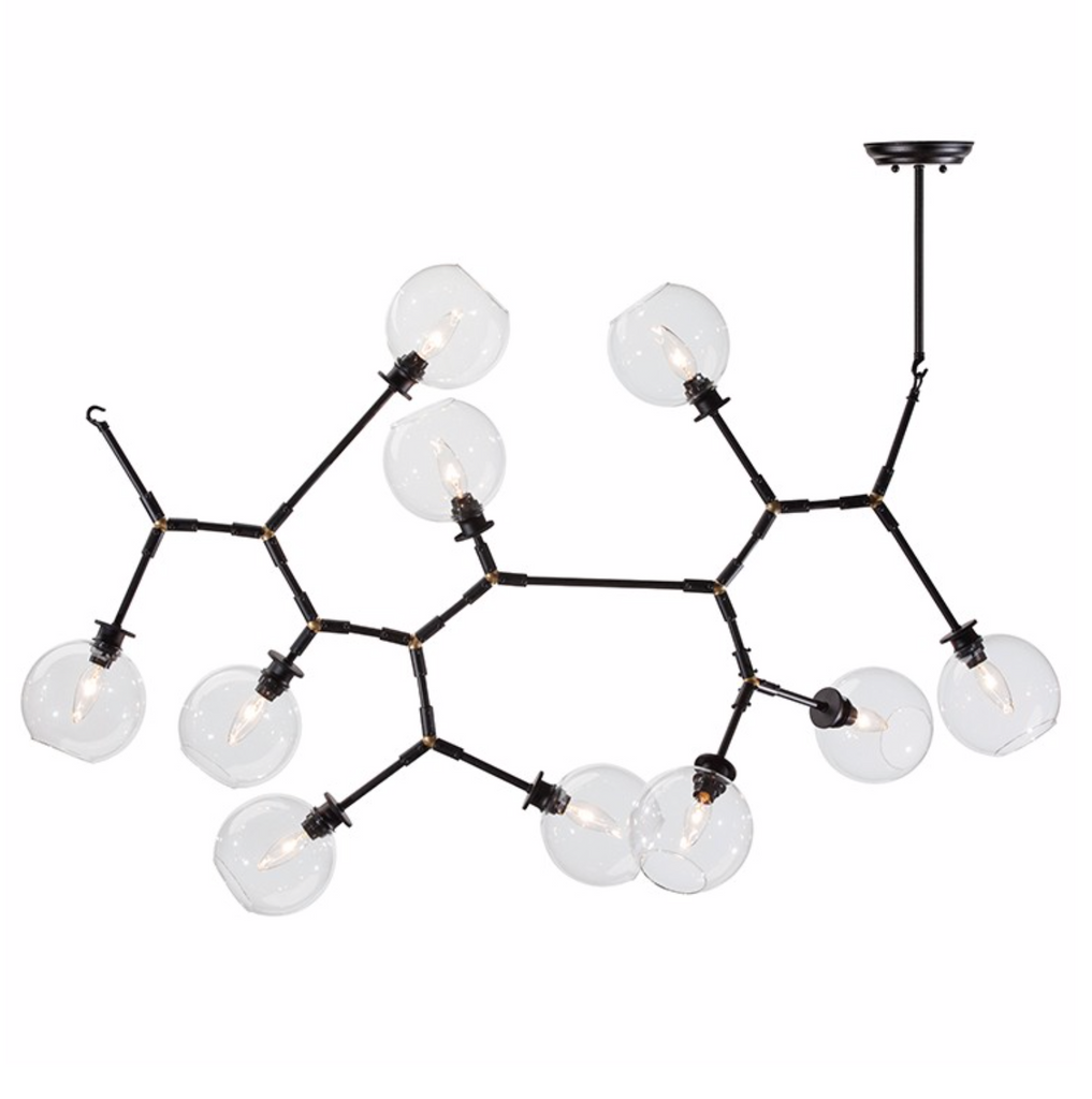 ATOM 10 PENDANT LIGHTING CLEAR-furniture stores regina-Hunters Furniture