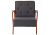"GIBSON Dark Grey Fabric - 31.3"" Chair-furniture stores regina-Hunters Furniture"