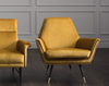 "THE HILLS Mustard Fabric - 34.3"" Chair-furniture stores regina-Hunters Furniture"