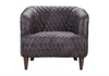 "HAYES VALLEY Black Leather - 29"" Chair-furniture stores regina-Hunters Furniture"