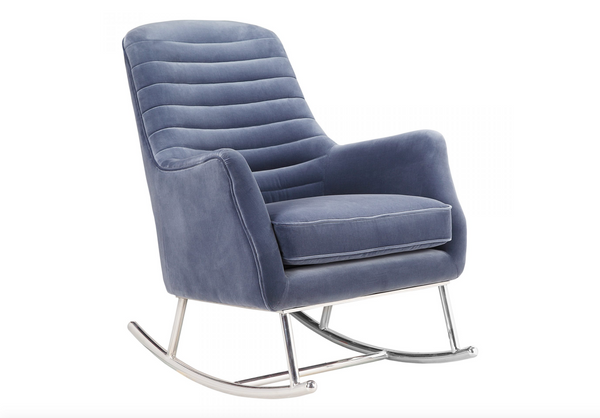 "RIVER HEIGHTS Blue Fabric - 37"" Chair-furniture stores regina-Hunters Furniture"