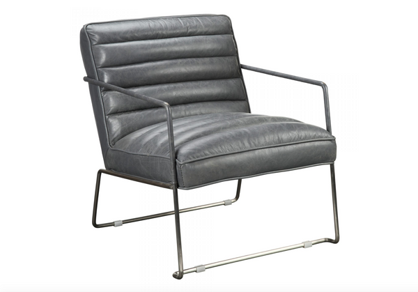 "WESTMOUNT Grey Leather - 28"" Chair-furniture stores regina-Hunters Furniture"