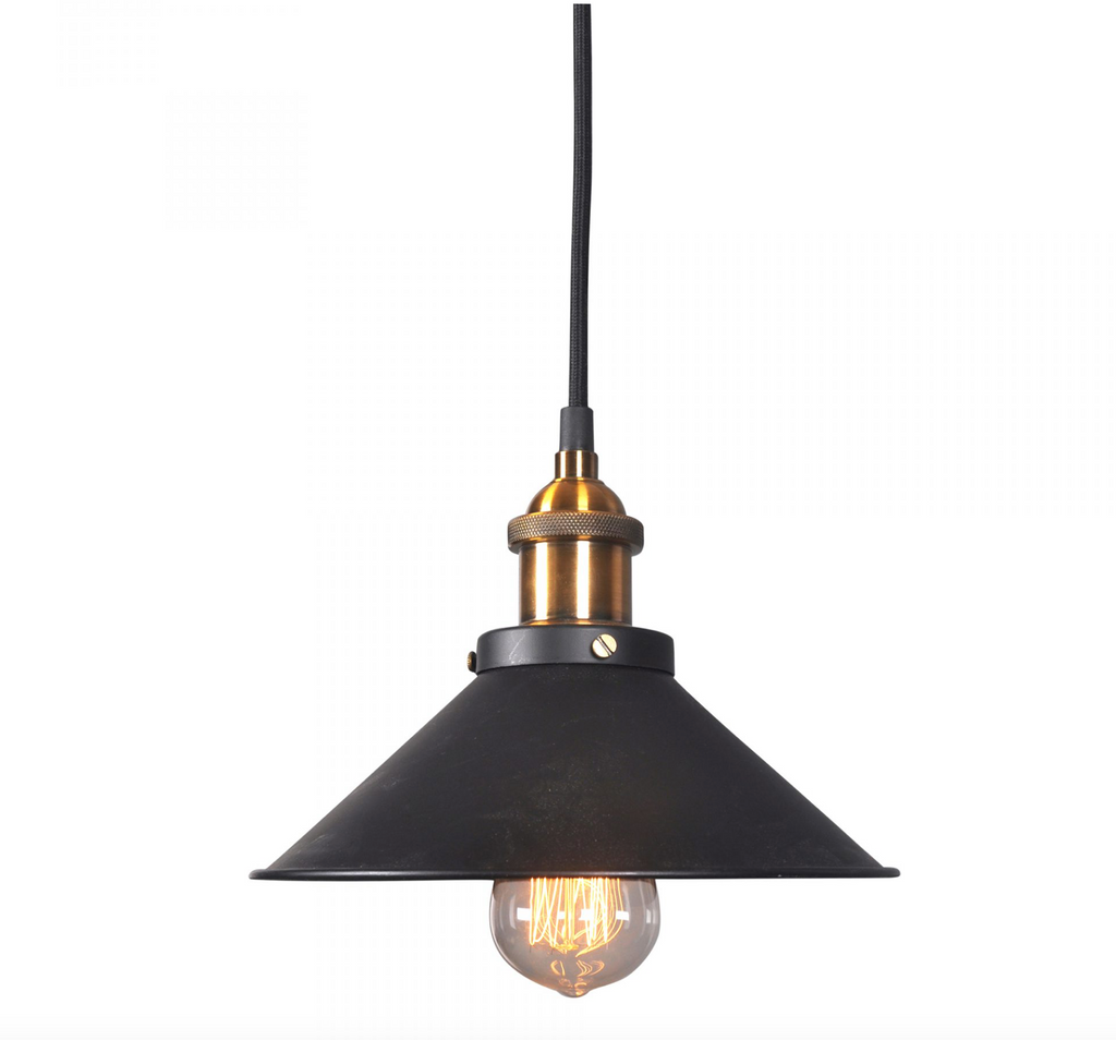 RENATA PENDANT LAMP BLACK-furniture stores regina-Hunters Furniture