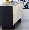 "NEW WEST Black and Natural Wood - 79"" Sideboard-furniture stores regina-Hunters Furniture"