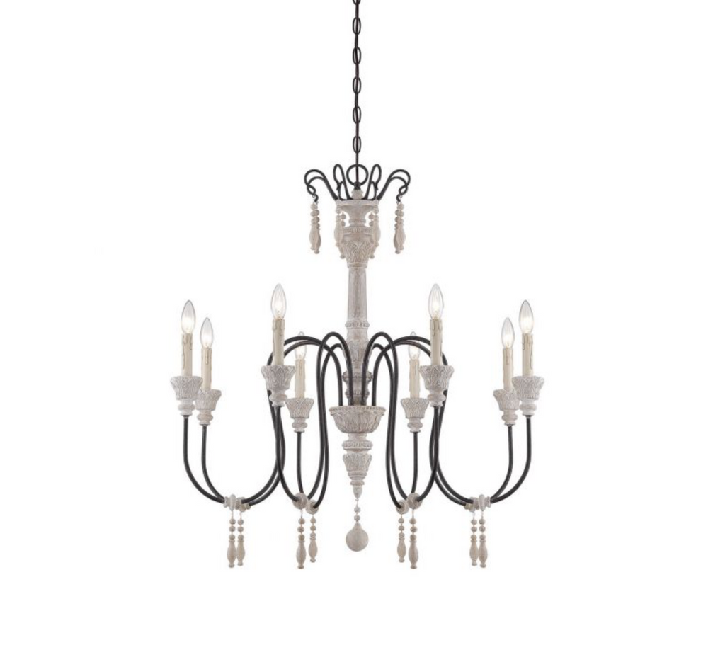 Ashland 8 Light Chandelier White Washed Driftwood-furniture stores regina-Hunters Furniture