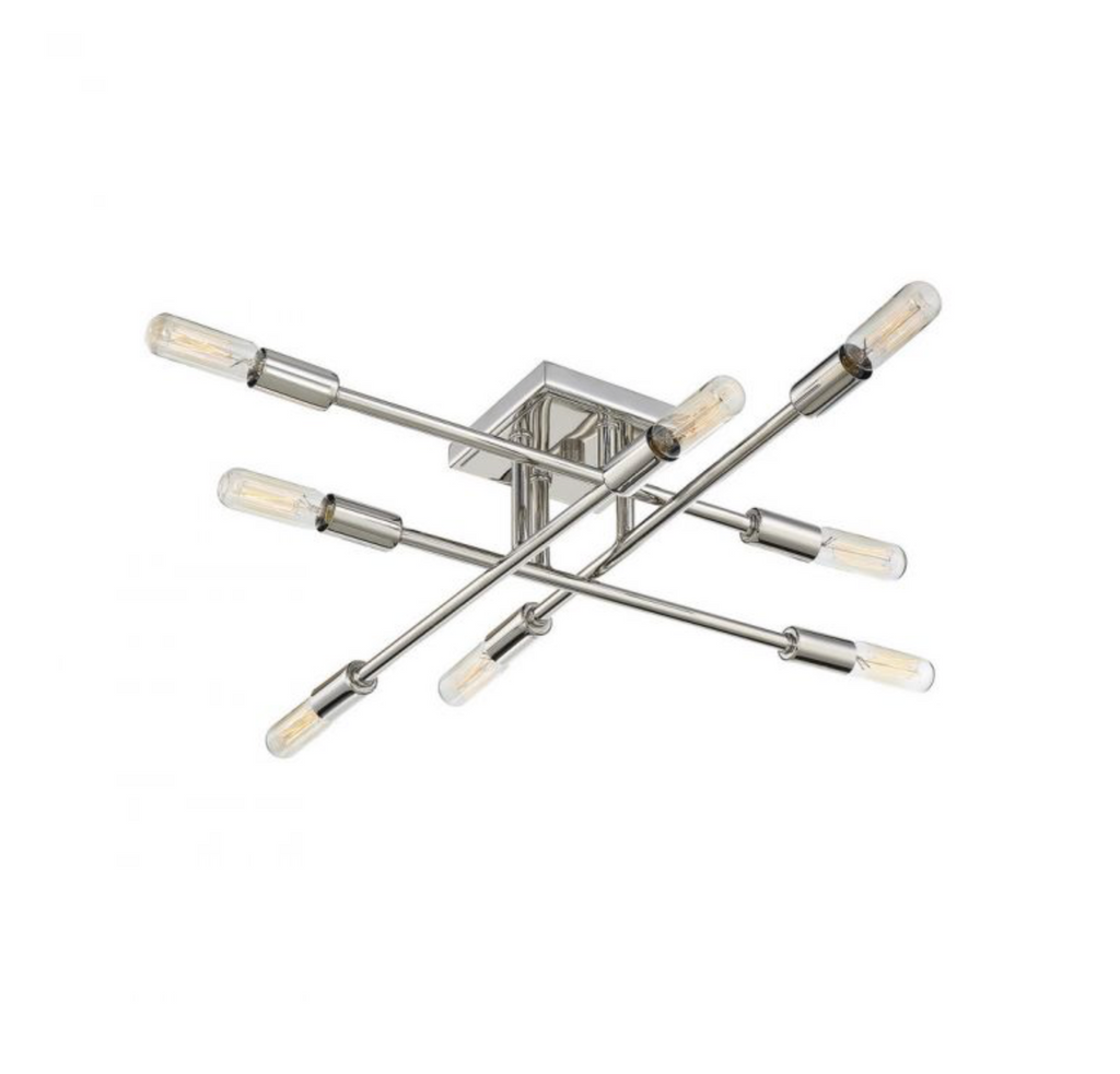 Lyrique 8 Light Semi Flush Polished Nickel-furniture stores regina-Hunters Furniture