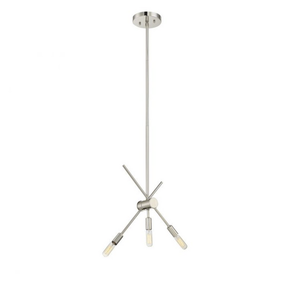 (Item Discontinued) Lyrique 3 Light Chandelier Polished Nickel (Display)-furniture stores regina-Hunters Furniture
