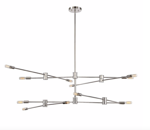 Lyrique 12 Light Chandelier Polished Nickel-furniture stores regina-Hunters Furniture