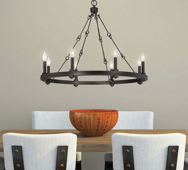 Adria 8 Light Chandelier English Bronze-furniture stores regina-Hunters Furniture